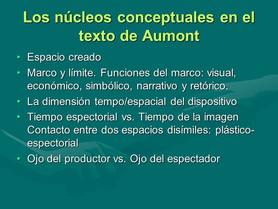 Los núcleos conceptuales en el texto de Aumont