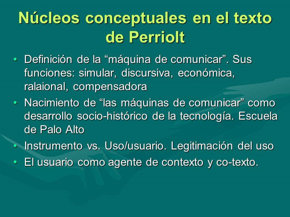 Núcleos conceptuales en el texto de Perriolt