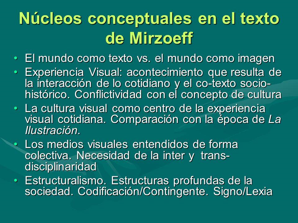 Núcleos conceptuales en el texto de Mirzoeff