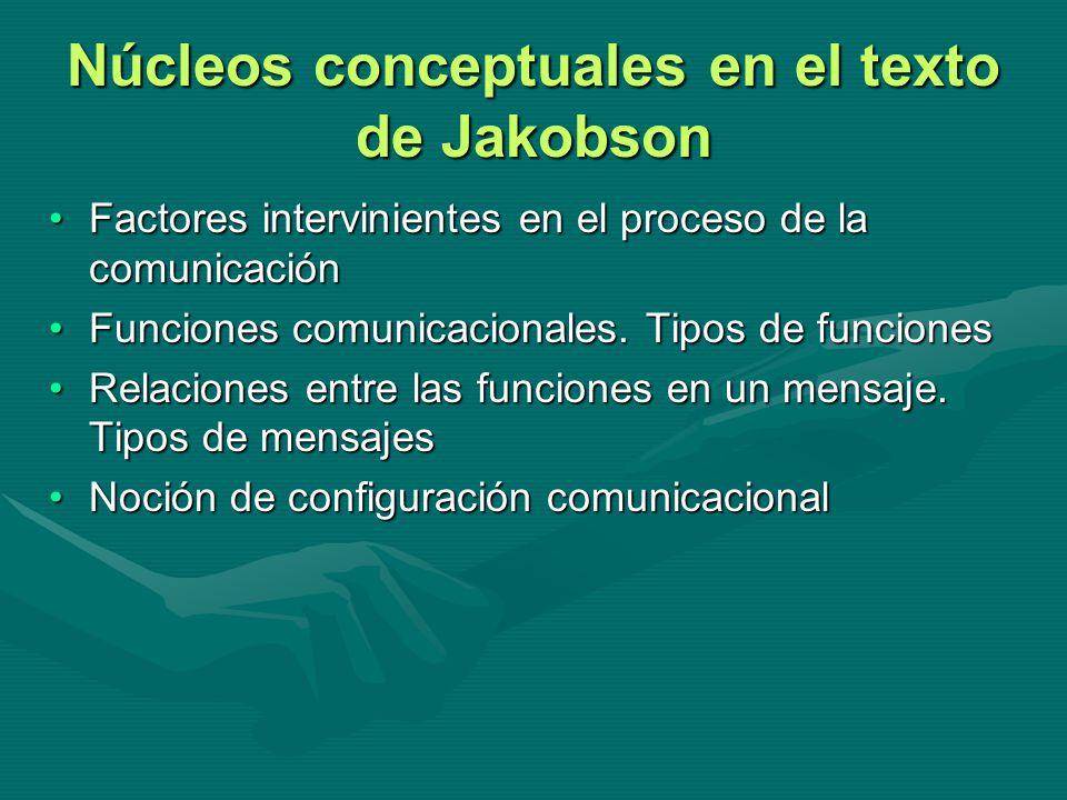 Núcleos conceptuales en el texto de Jakobson