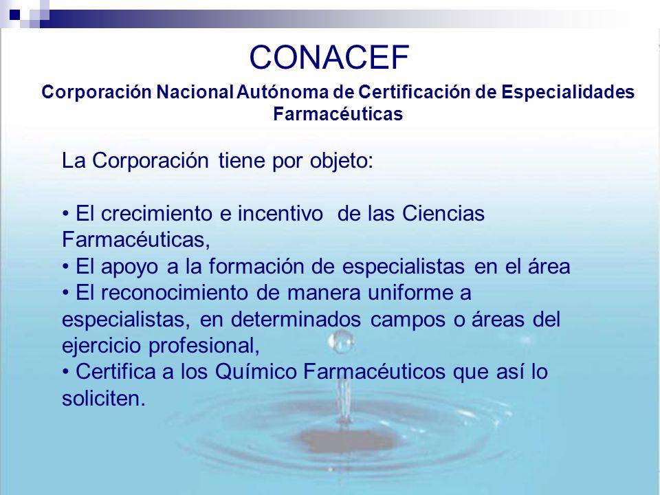CONACEF La Corporación tiene por objeto: