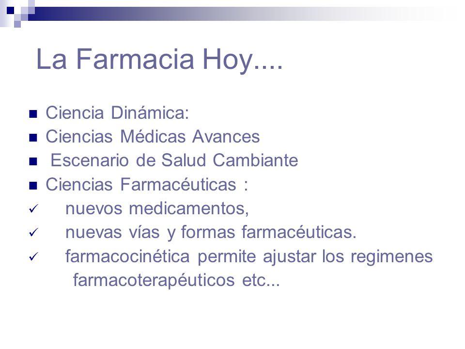 La Farmacia Hoy.... Ciencia Dinámica: Ciencias Médicas Avances
