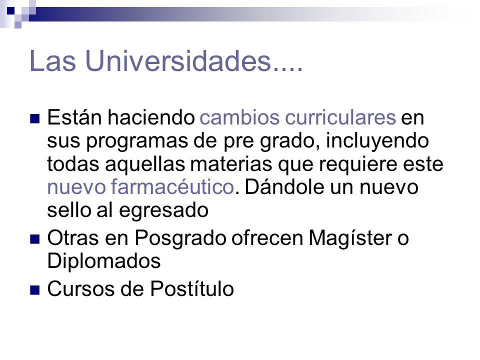 Las Universidades....