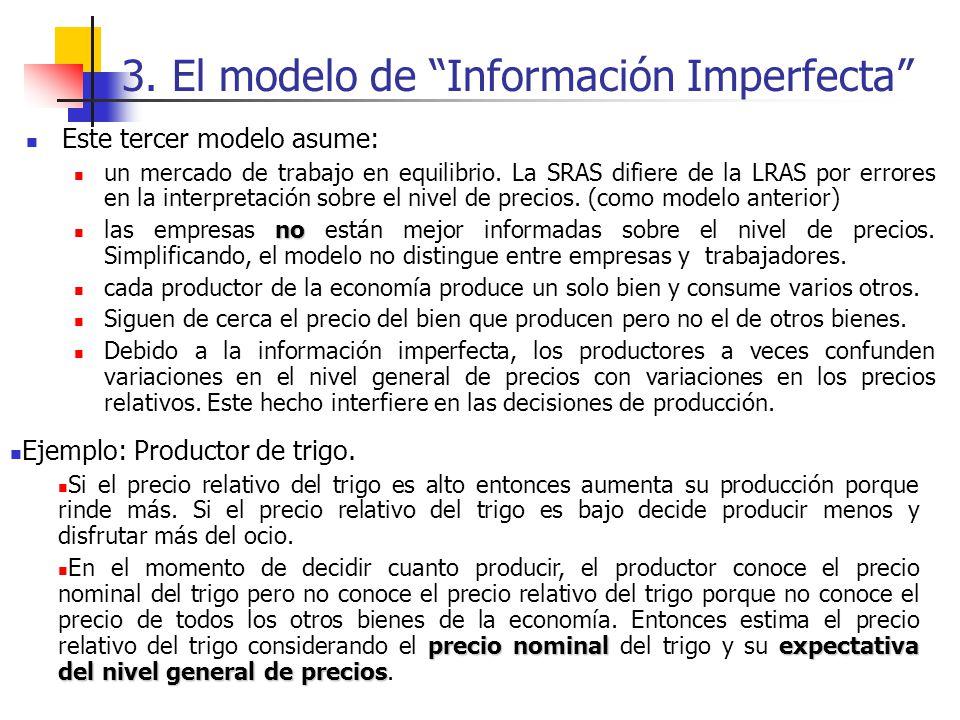 3. El modelo de Información Imperfecta
