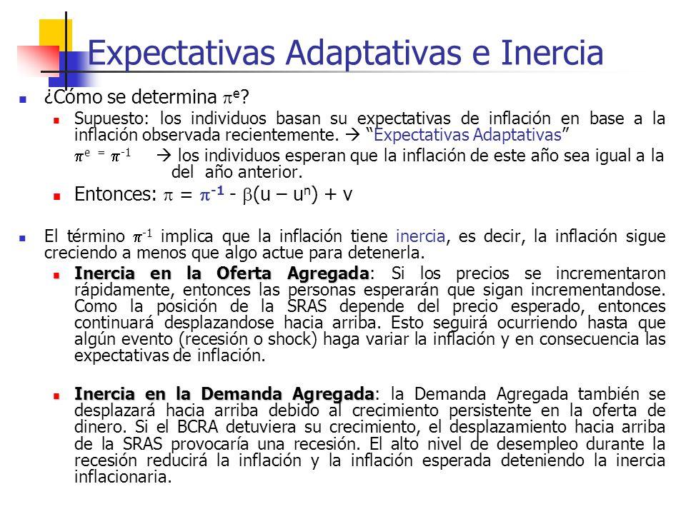 Expectativas Adaptativas e Inercia