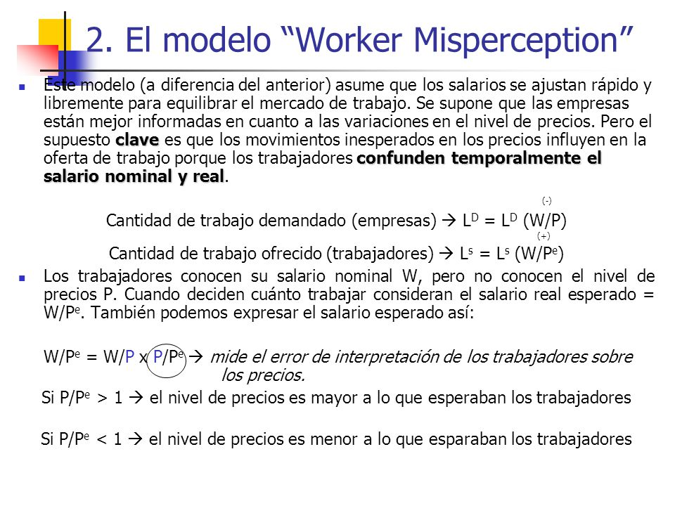 2. El modelo Worker Misperception