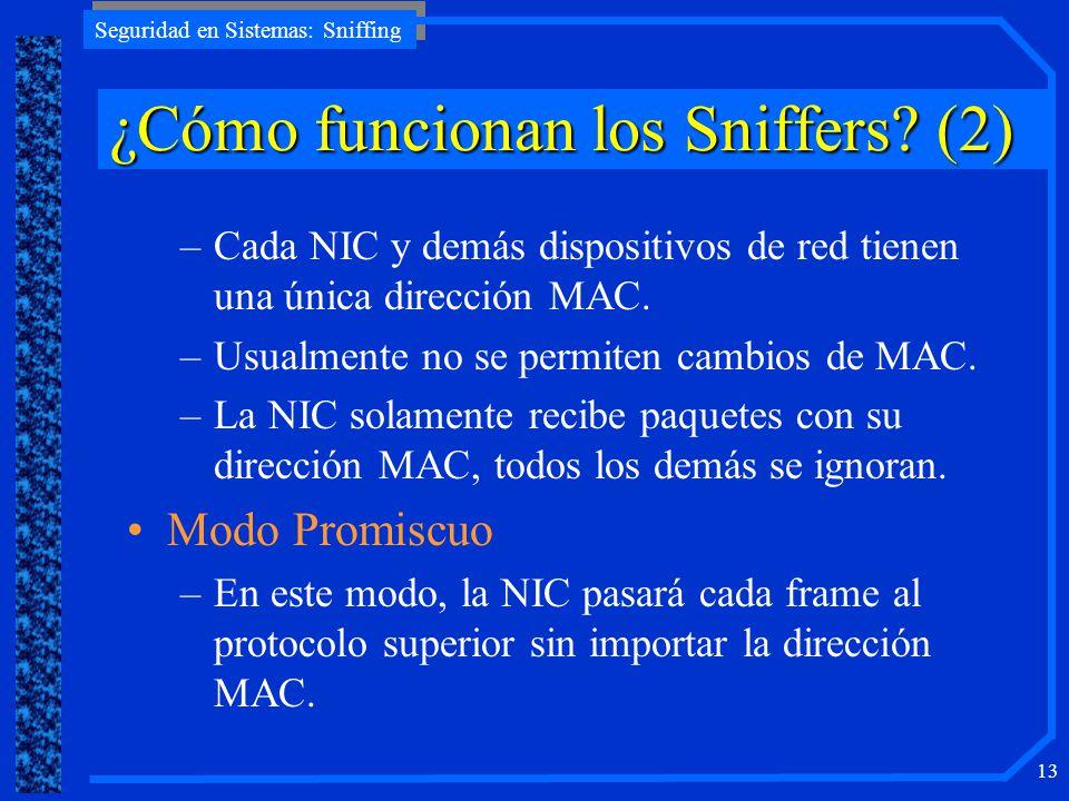¿Cómo funcionan los Sniffers (2)