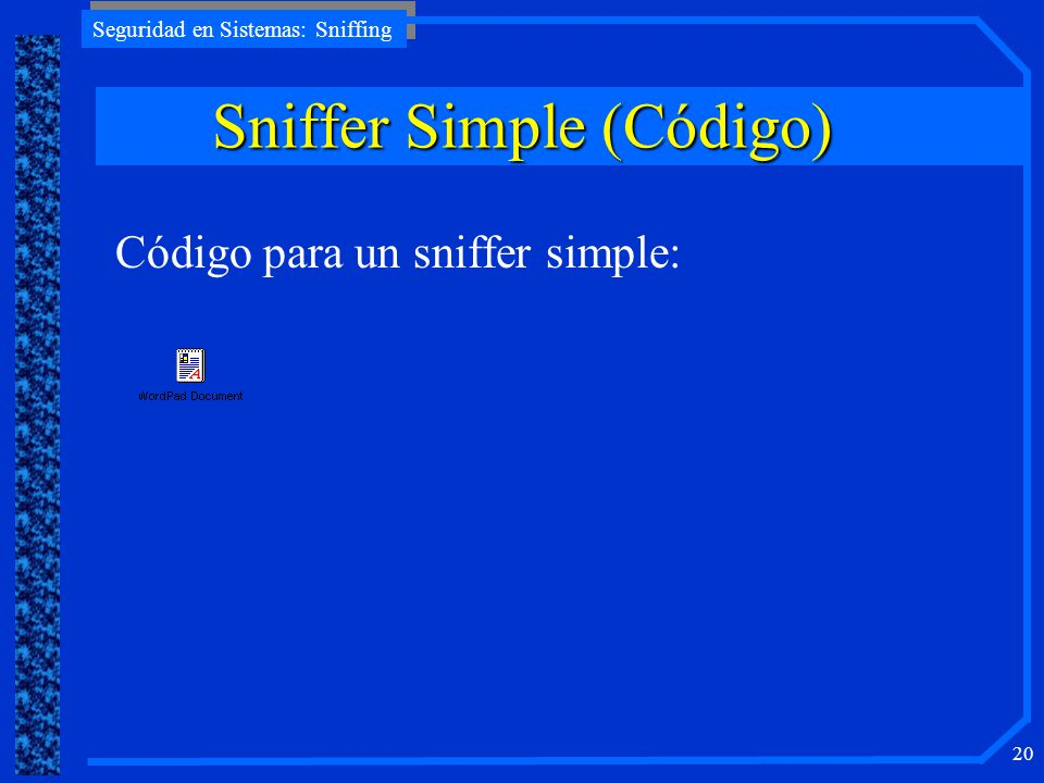 Sniffer Simple (Código)