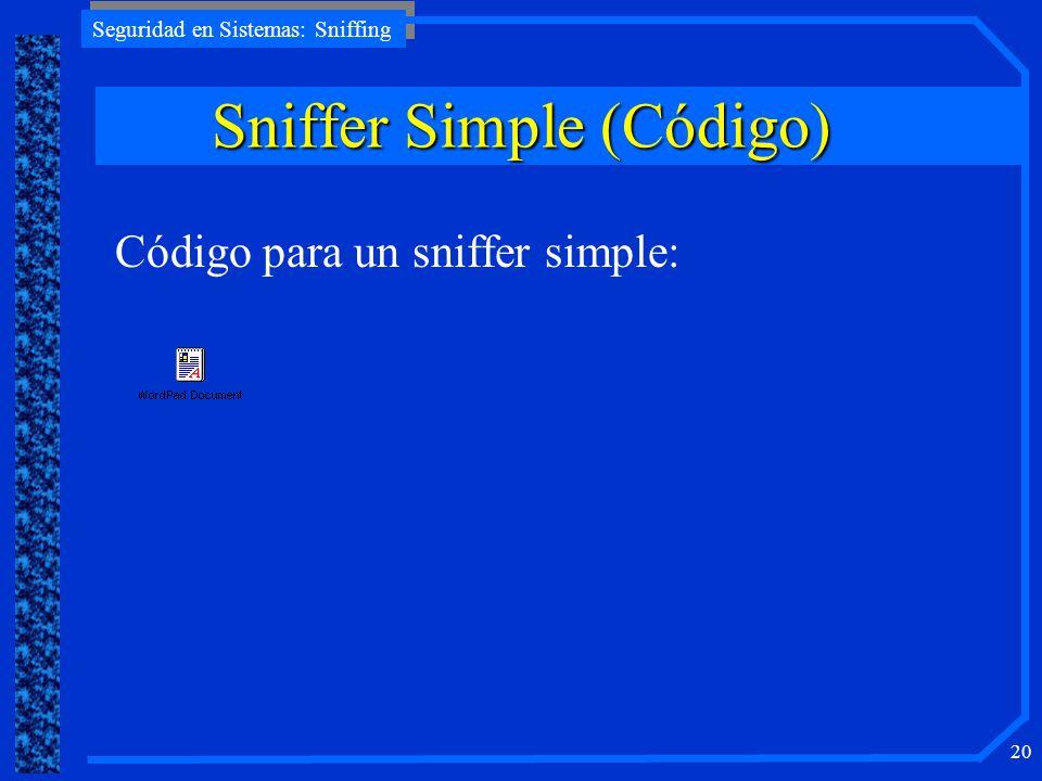 Sniffer Simple (Código)