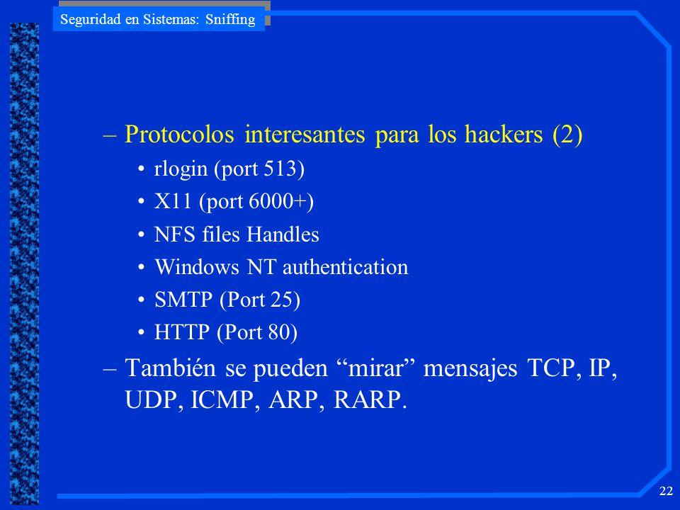 Protocolos interesantes para los hackers (2)