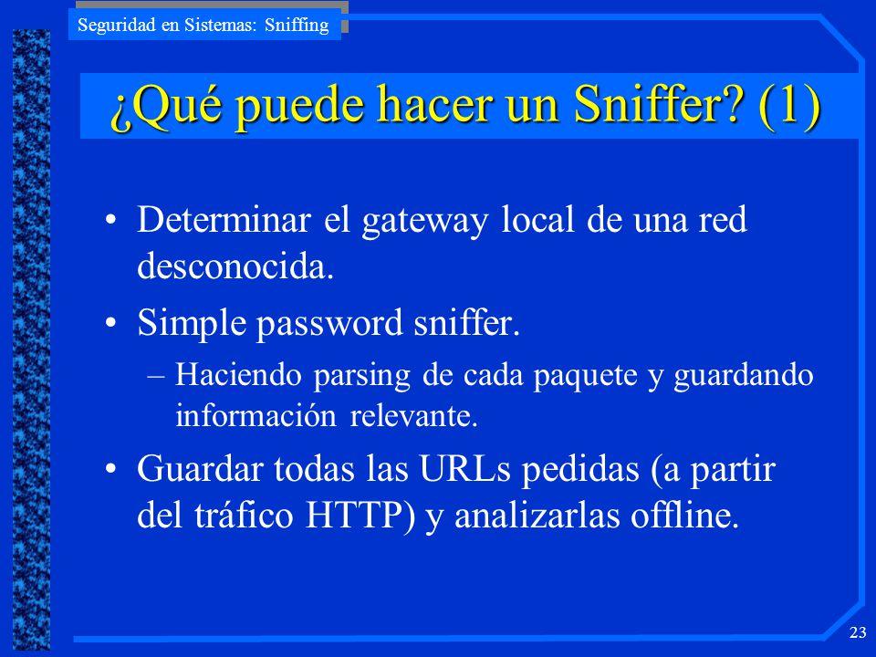¿Qué puede hacer un Sniffer (1)