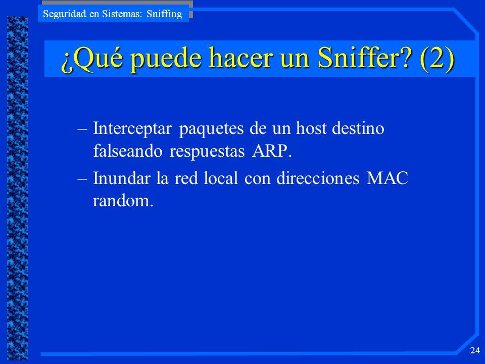 ¿Qué puede hacer un Sniffer (2)