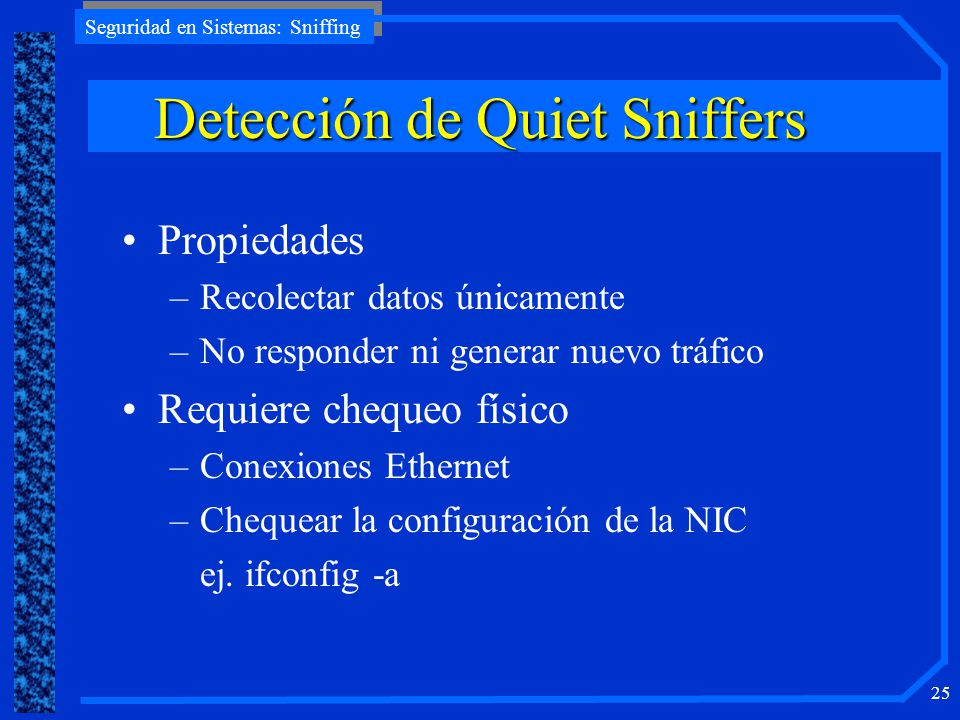 Detección de Quiet Sniffers