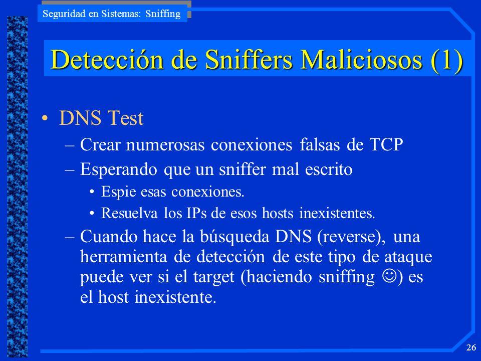 Detección de Sniffers Maliciosos (1)