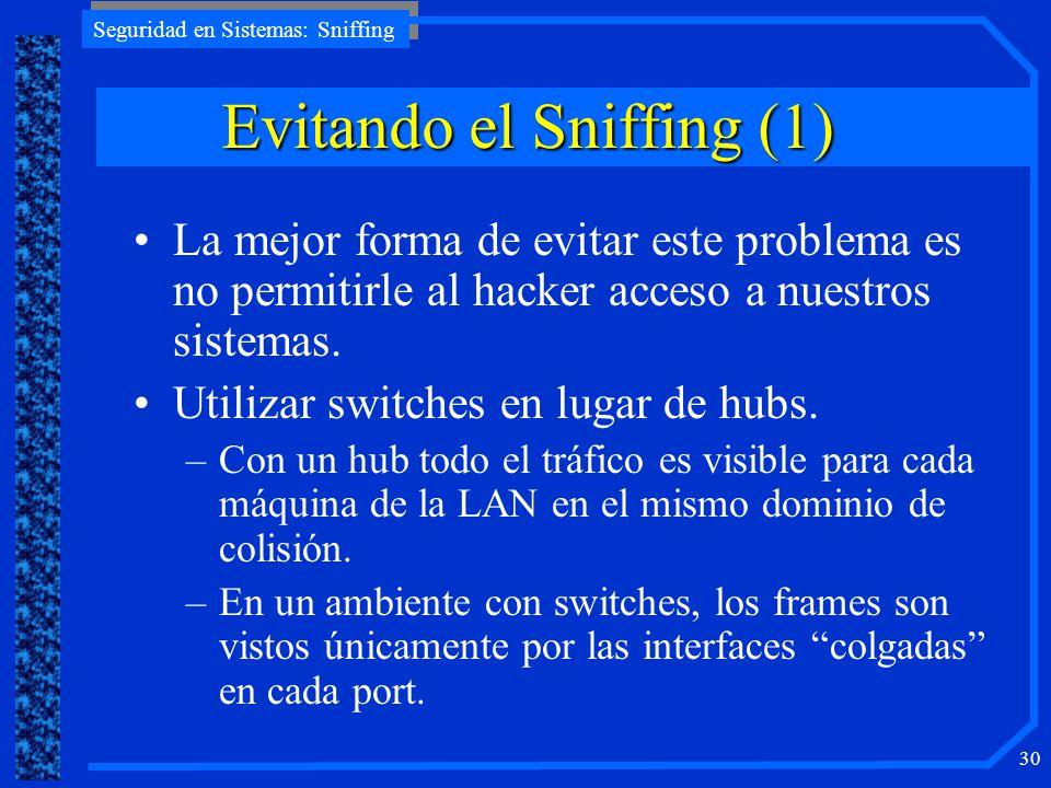 Evitando el Sniffing (1)