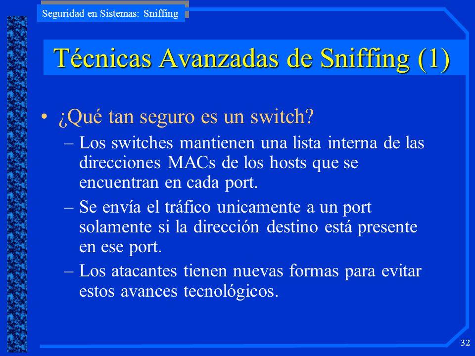 Técnicas Avanzadas de Sniffing (1)