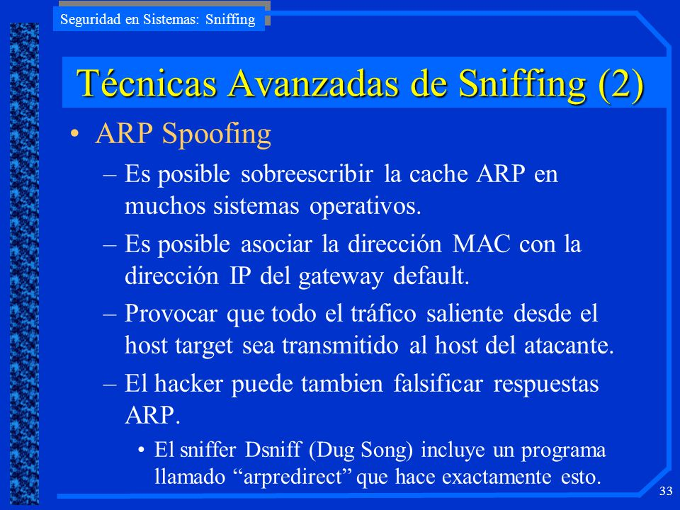 Técnicas Avanzadas de Sniffing (2)