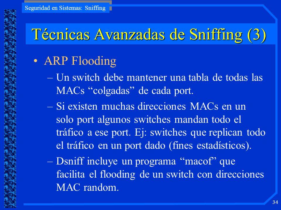 Técnicas Avanzadas de Sniffing (3)