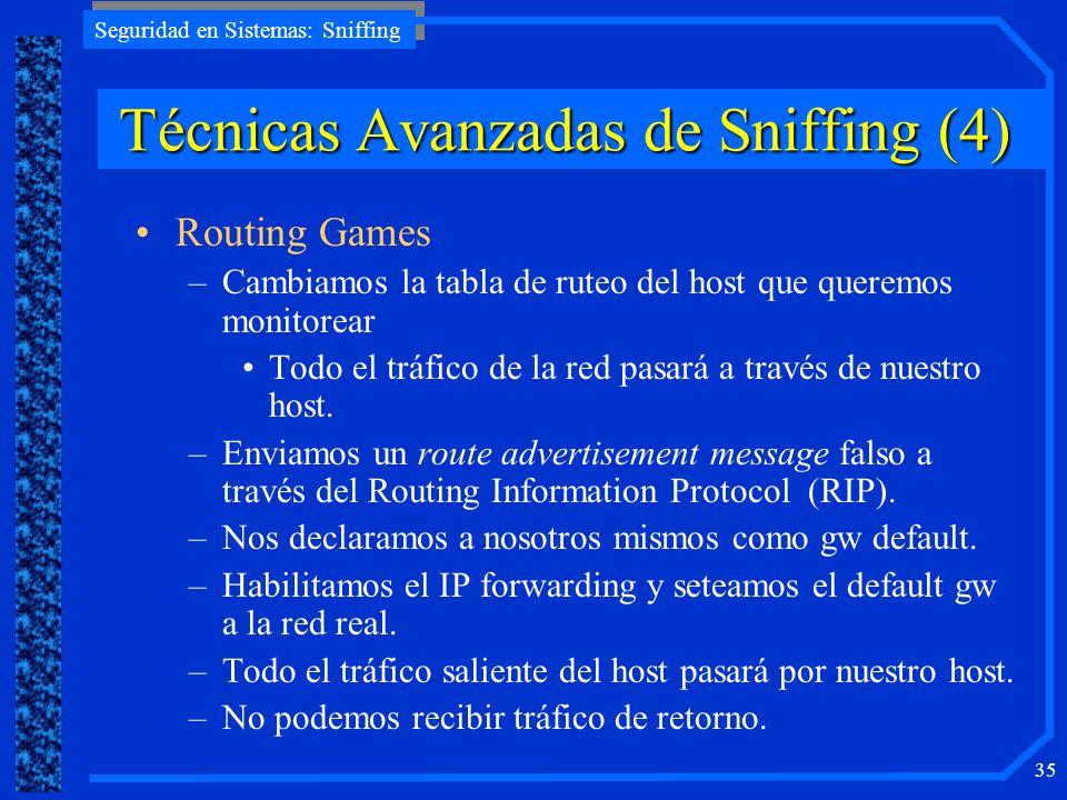 Técnicas Avanzadas de Sniffing (4)