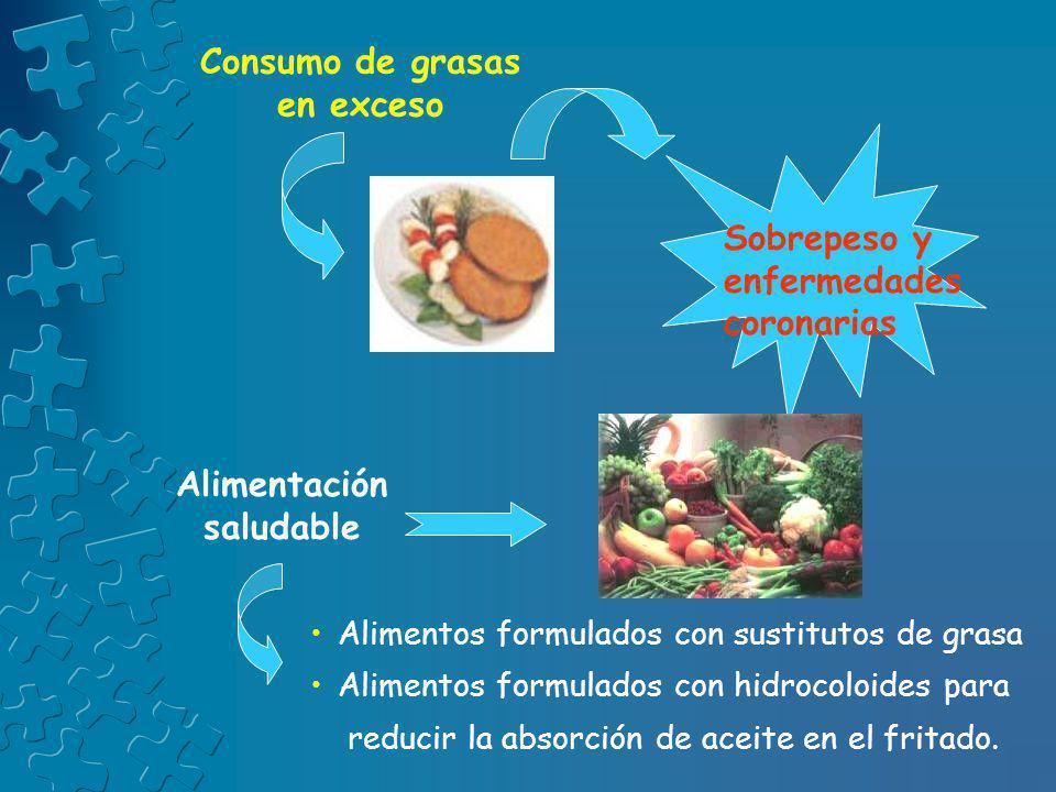 Consumo de grasas en exceso Alimentación saludable