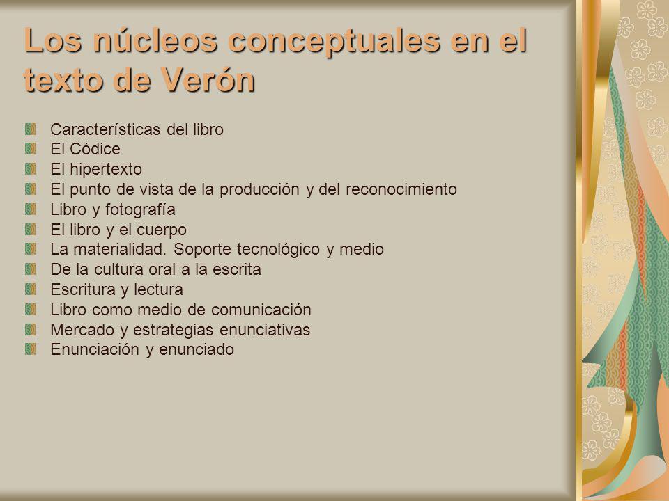 Los núcleos conceptuales en el texto de Verón