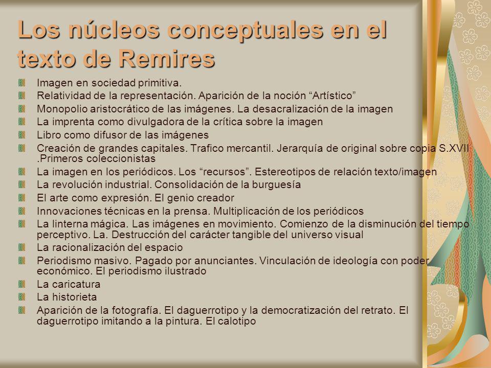 Los núcleos conceptuales en el texto de Remires