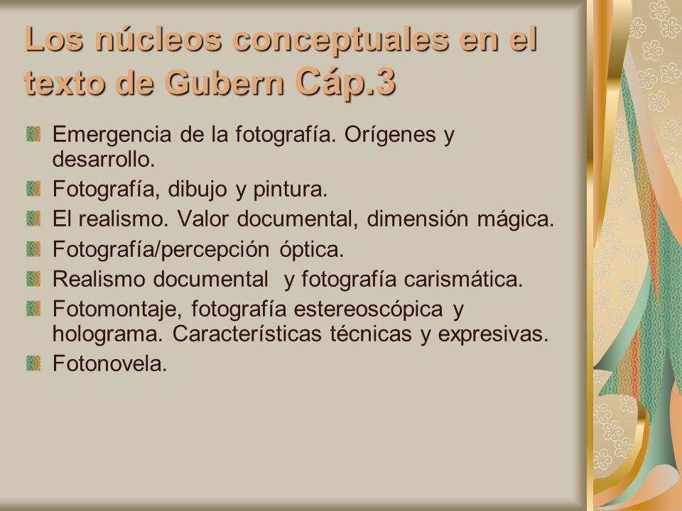 Los núcleos conceptuales en el texto de Gubern Cáp.3