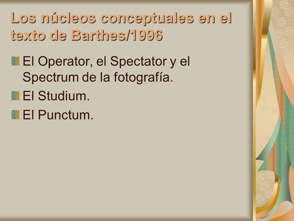 Los núcleos conceptuales en el texto de Barthes/1996