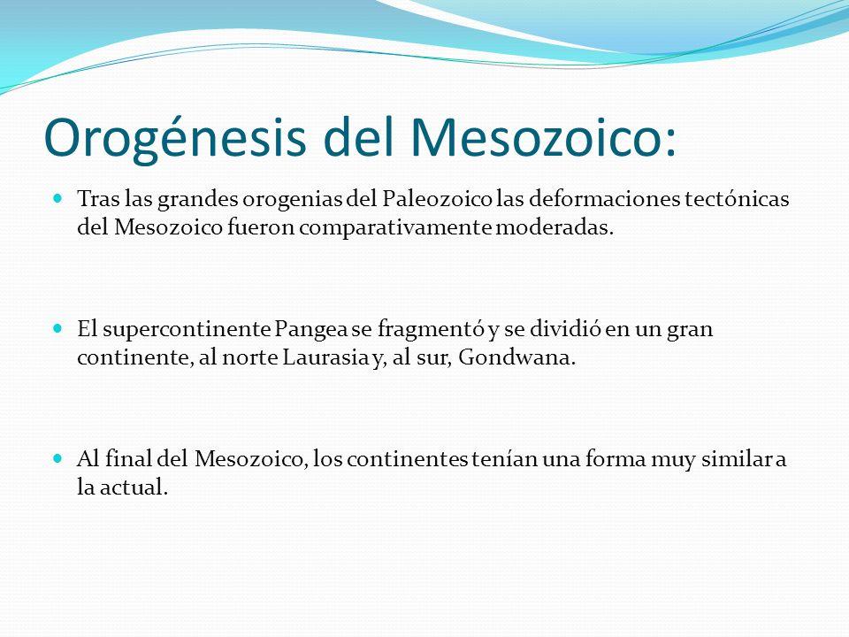 Orogénesis del Mesozoico: