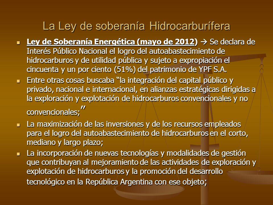 La Ley de soberanía Hidrocarburífera