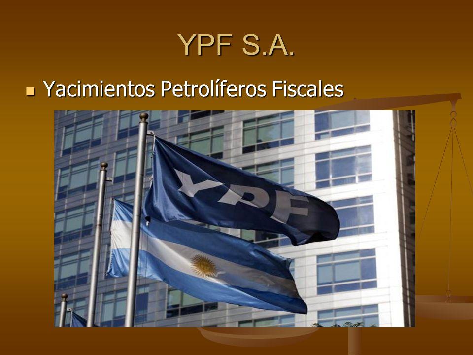 YPF S.A. Yacimientos Petrolíferos Fiscales
