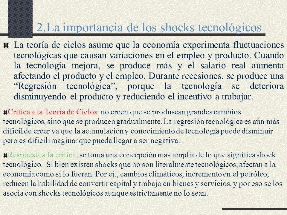 2.La importancia de los shocks tecnológicos