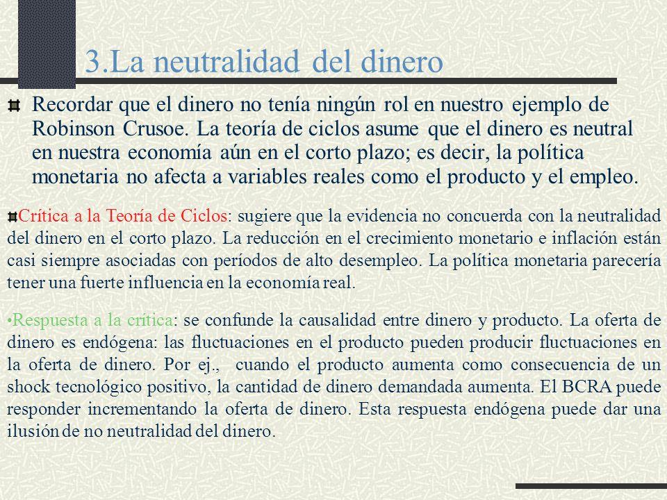 3.La neutralidad del dinero