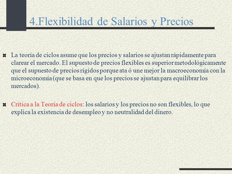 4.Flexibilidad de Salarios y Precios