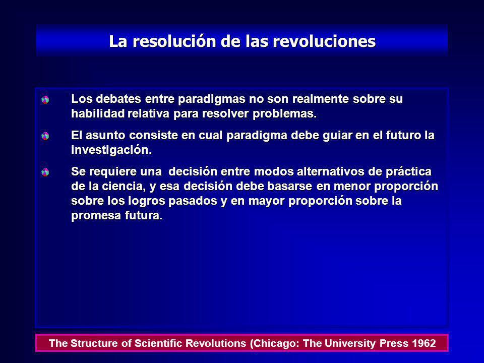 La resolución de las revoluciones
