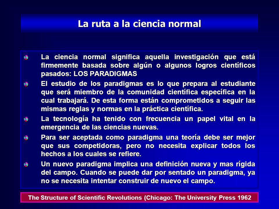 La ruta a la ciencia normal