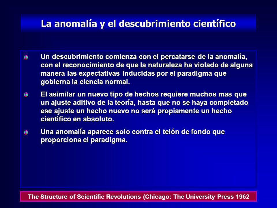 La anomalía y el descubrimiento científico