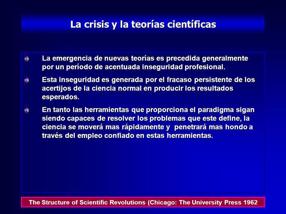 La crisis y la teorías científicas