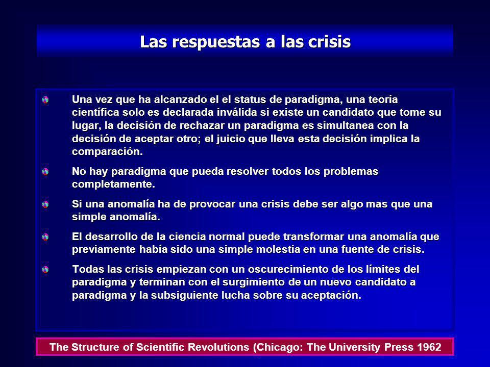 Las respuestas a las crisis
