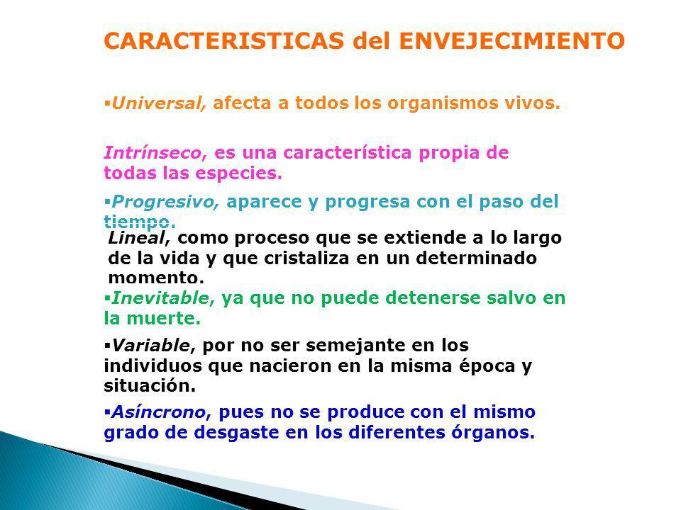 CARACTERISTICAS del ENVEJECIMIENTO