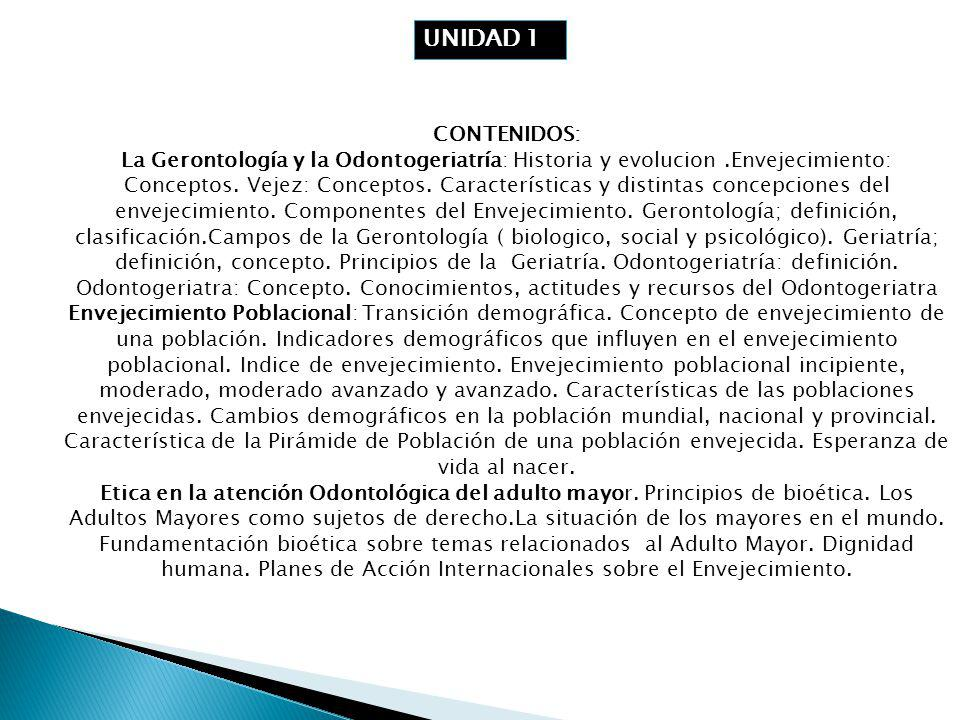 UNIDAD 11 CONTENIDOS: