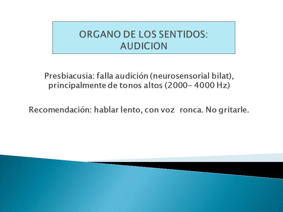 ORGANO DE LOS SENTIDOS: AUDICION