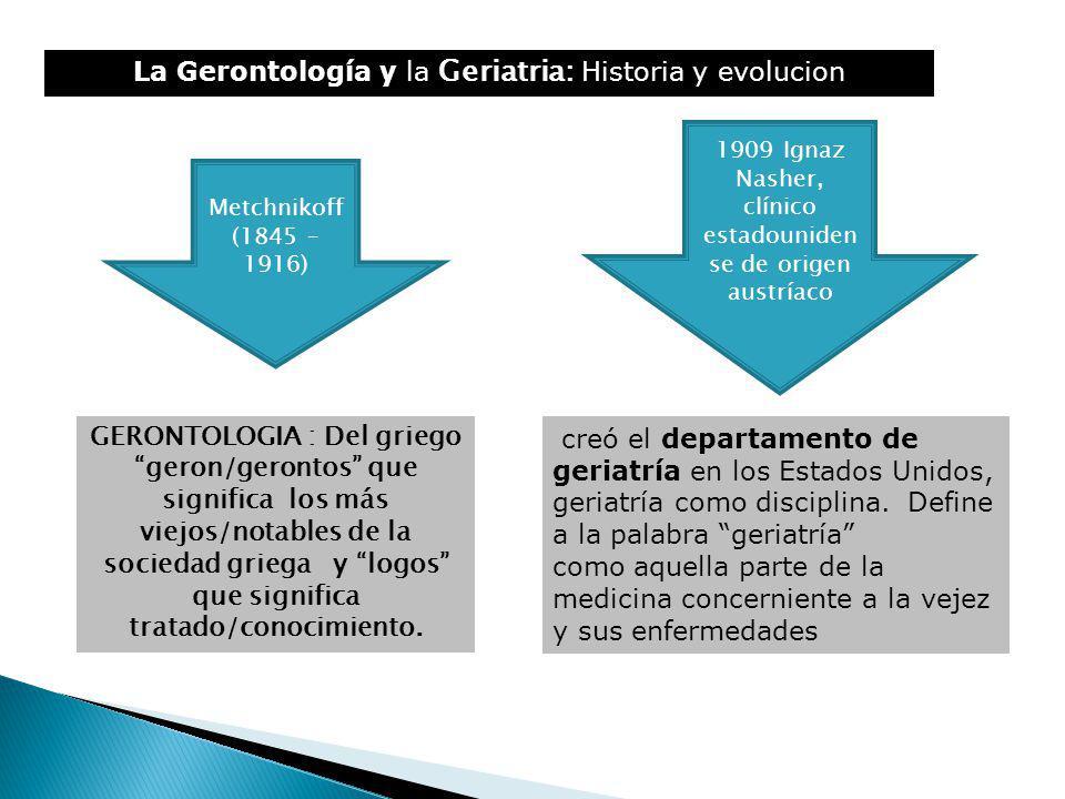 La Gerontología y la Geriatria: Historia y evolucion