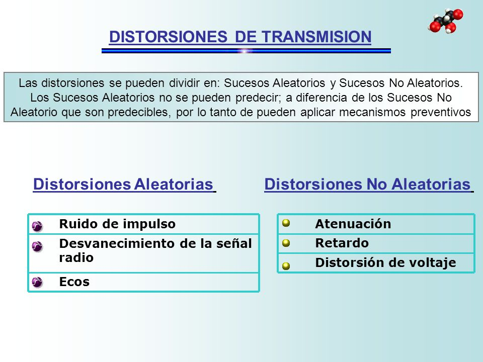 DISTORSIONES DE TRANSMISION