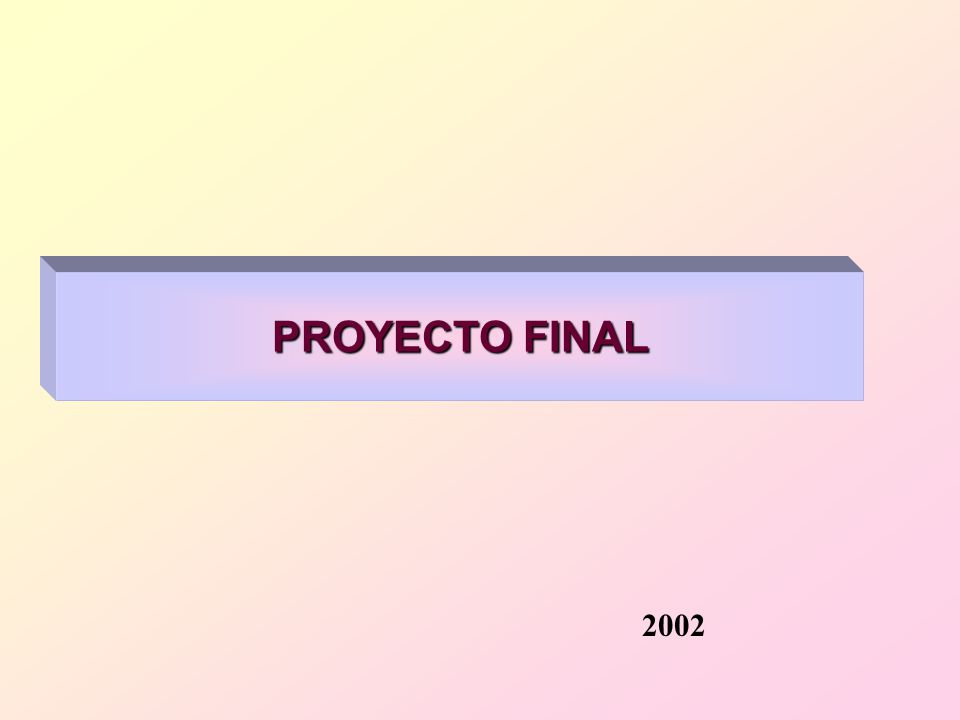 PROYECTO FINAL 2002