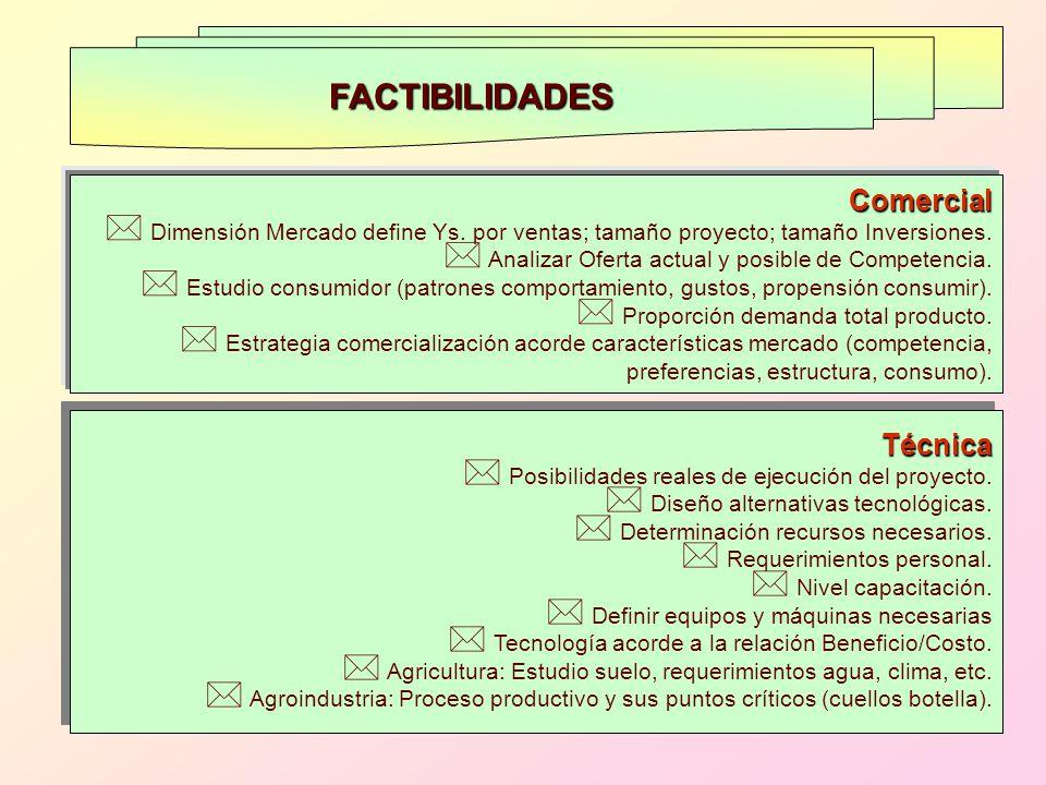 FACTIBILIDADES Comercial Técnica