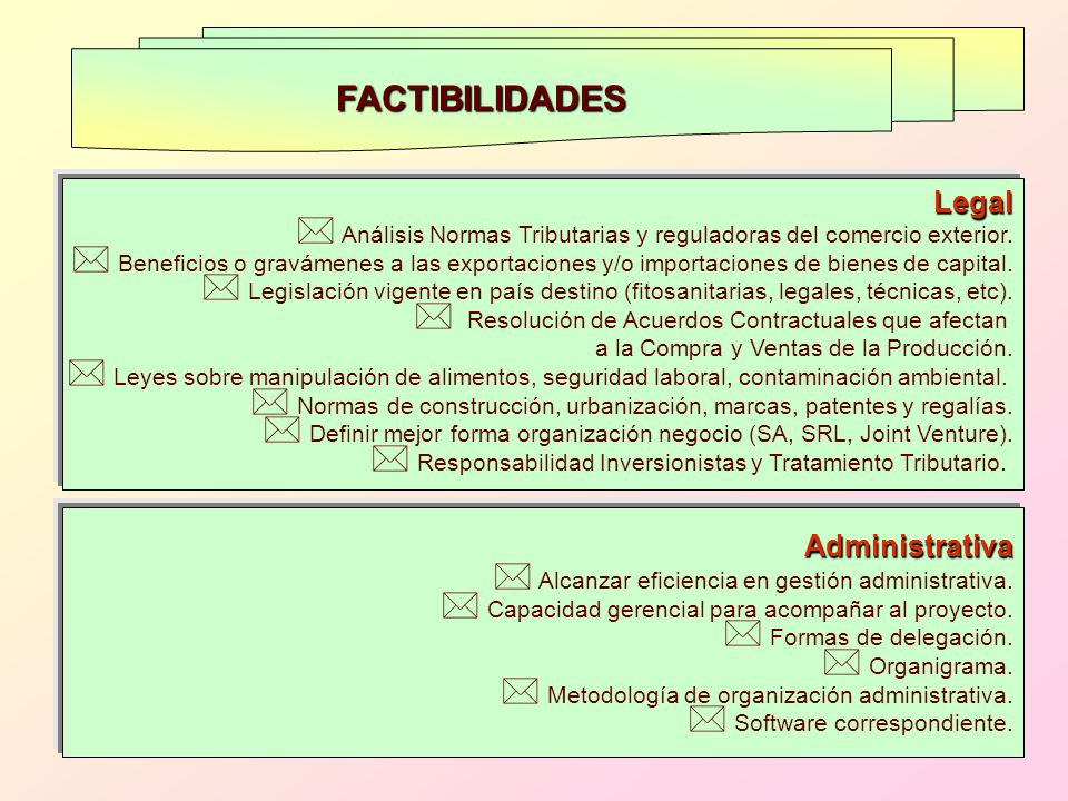 FACTIBILIDADES Legal Administrativa