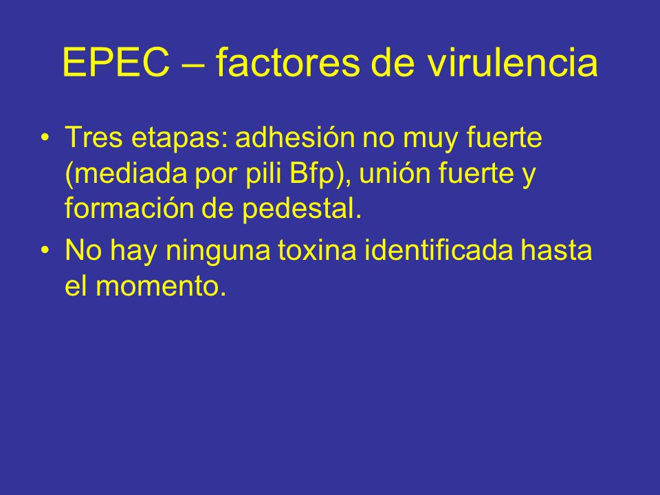 EPEC – factores de virulencia