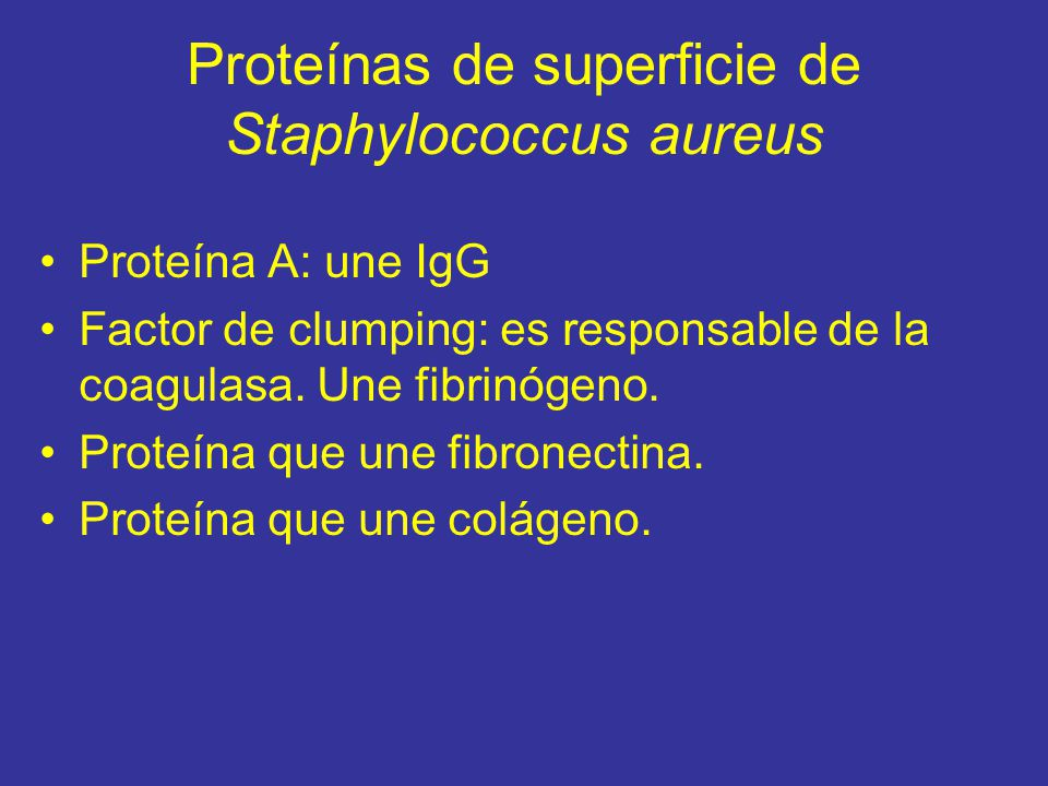 Proteínas de superficie de Staphylococcus aureus
