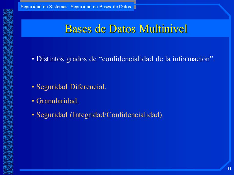 Bases de Datos Multinivel